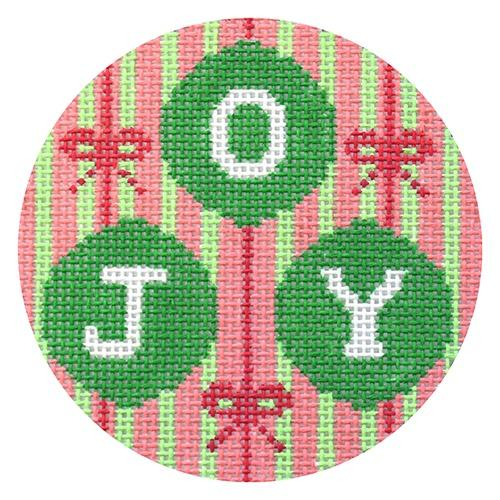 Joy Baubles Ornament Painted Canvas Voila!