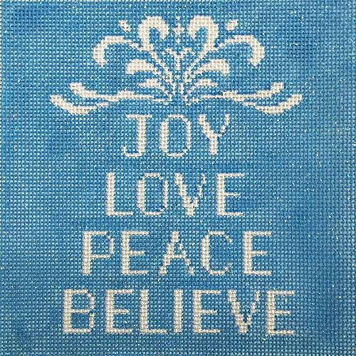 Joy Love Peace Believe Painted Canvas Alice Peterson