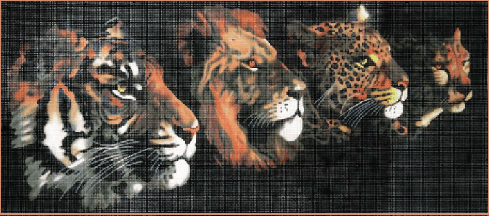 Jungle Cats Painted Canvas Lee's Needle Art Inc.
