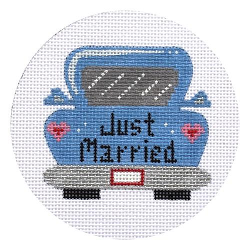 Just Married Car Painted Canvas Danji Designs