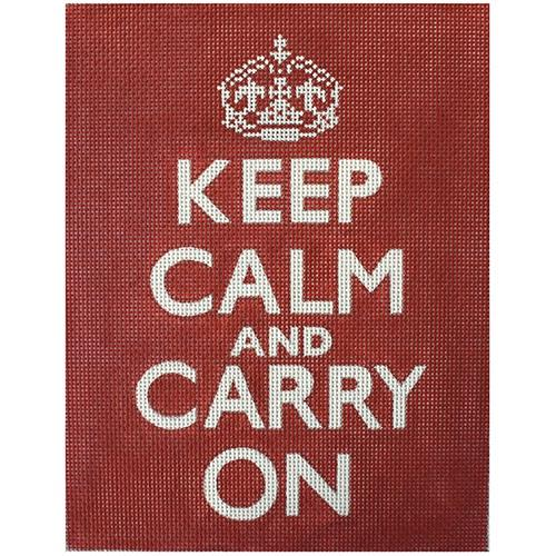 Keep Calm and Carry On Painted Canvas Unique New Zealand Design