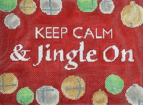 Keep Calm & Jingle On Painted Canvas Pippin