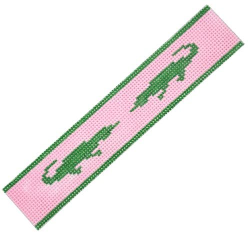 Key Fob Alligator Painted Canvas Kate Dickerson Needlepoint Collections