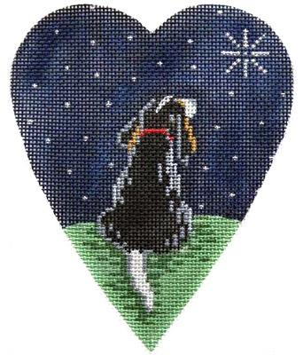 King Charles Spaniel Midnight Heart Painted Canvas Kirk & Bradley
