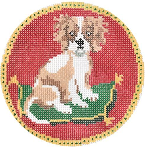 King Charles Spaniel Painted Canvas Tina Griffin Designs
