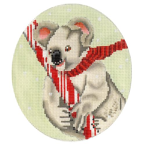 Koala with Candy Cane Painted Canvas Scott Church Creative