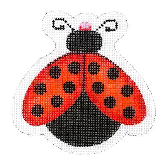 Lady Bug - Red with Black Dots Painted Canvas Burnett & Bradley
