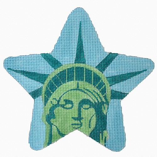 Lady Liberty Star Painted Canvas Raymond Crawford Designs