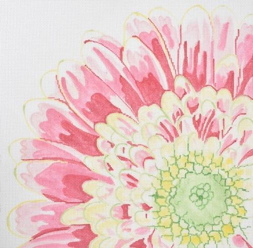 Large Fabulous Flower Painted Canvas Jean Smith