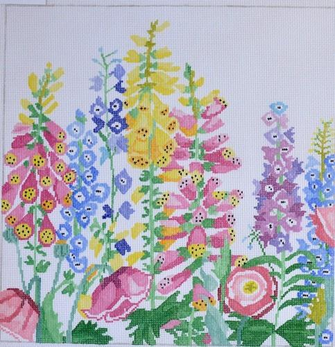 Large Garden Treasures #1 Painted Canvas Jean Smith