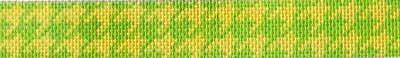 Lemon / Lime Houndstooth Belt Painted Canvas Associated Talents