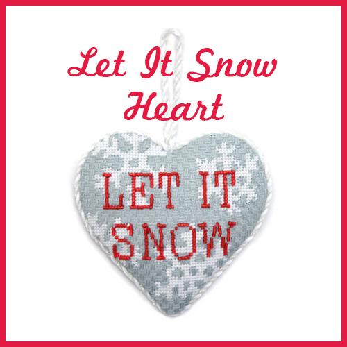Let It Snow Online Needlepoint Class Online Course Needlepoint.Com
