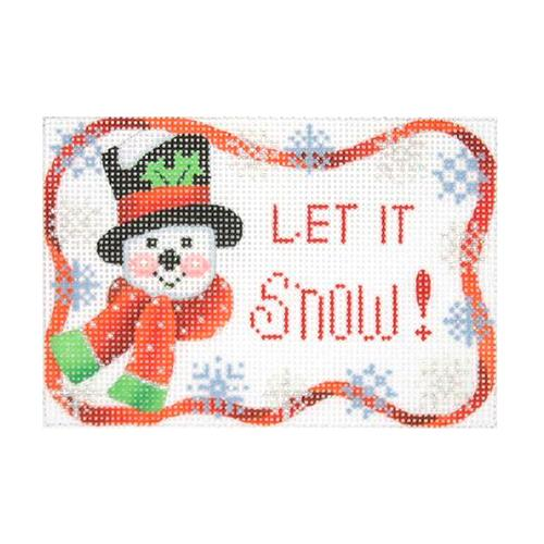 Let It Snow Ornament Painted Canvas Burnett & Bradley