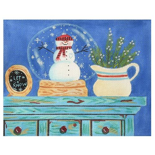 Let it Snow (VNG) Painted Canvas Vallerie Needlepoint Gallery