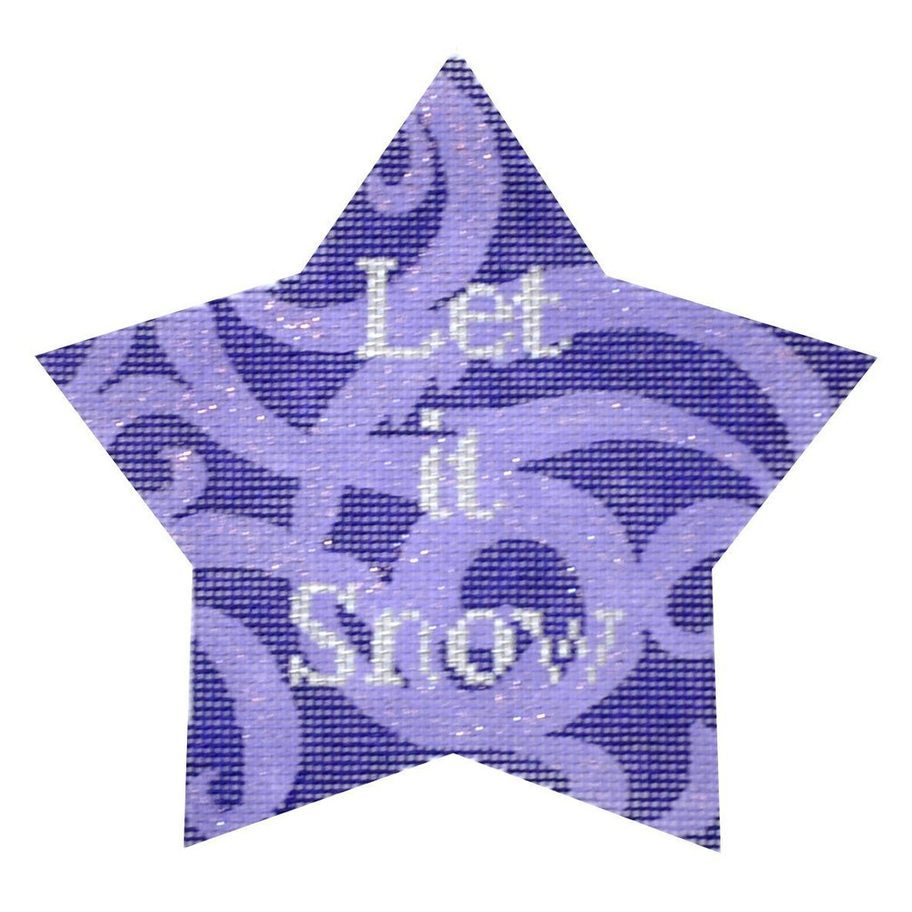 Let It Snow Xmas Star Painted Canvas Kirk & Bradley