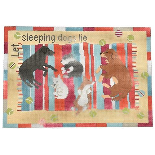 Let Sleeping Dogs Lie Painted Canvas Pippin