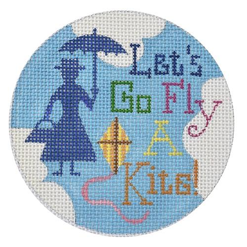 Let's Go Fly a Kite Ornament Painted Canvas Raymond Crawford Designs