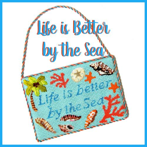 Life is Better by the Sea Needlepoint Kit & Online Class Online Course Needlepoint.Com