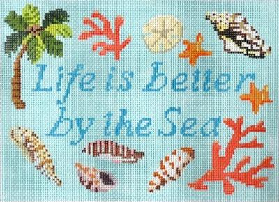 Life is Better by the Sea Painted Canvas Kirk & Bradley