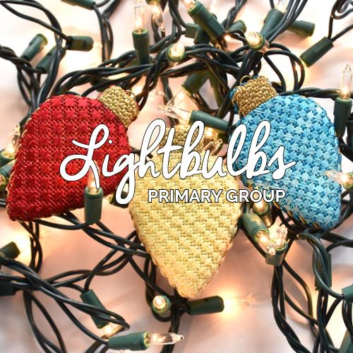 Lightbulbs - Primary Group Kit & Online Class Online Course Needlepoint.Com