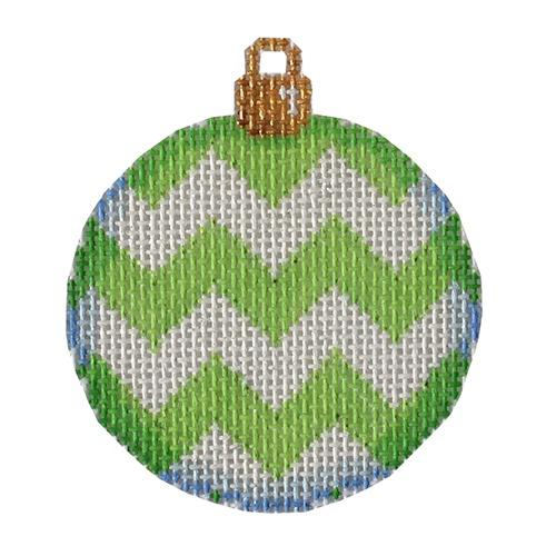 Lime Chevron Mini Ball Painted Canvas Associated Talents
