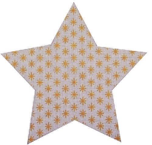 Lisa's Tree Topper Star - Gold on 18 Painted Canvas Whimsy and grace