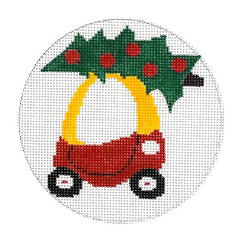 Little Christmas Car Painted Canvas Vallerie Needlepoint Gallery