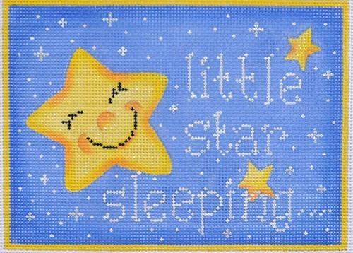 Little Star Sleeping / Blue Painted Canvas Associated Talents