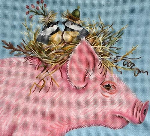 Living High on the Hog Painted Canvas Vicky Sawyer
