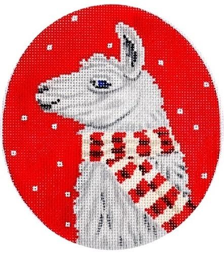 Llama with Scarf Painted Canvas Scott Church Creative