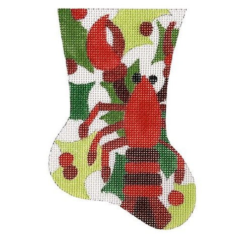 *New* LEE Red Poppy Flower Series handpainted Needlepoint Canvas on 12 Mesh
