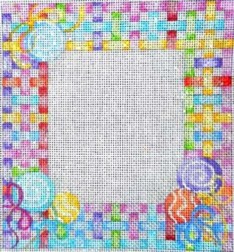 Lollipop Lattice Baby Sampler Painted Canvas Associated Talents