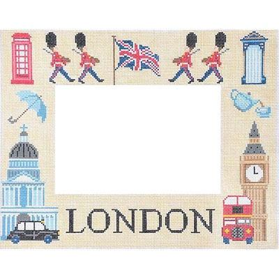 London Picture Frame Painted Canvas Kirk & Bradley