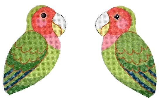 Love Bird Painted Canvas Labors of Love Needlepoint