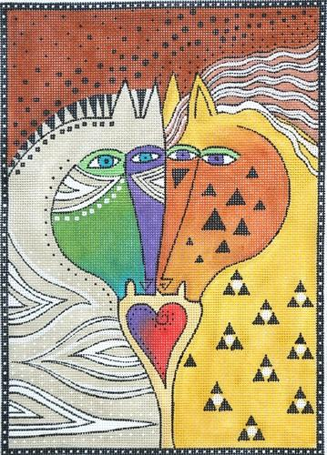 Love Horses Painted Canvas Laurel Burch