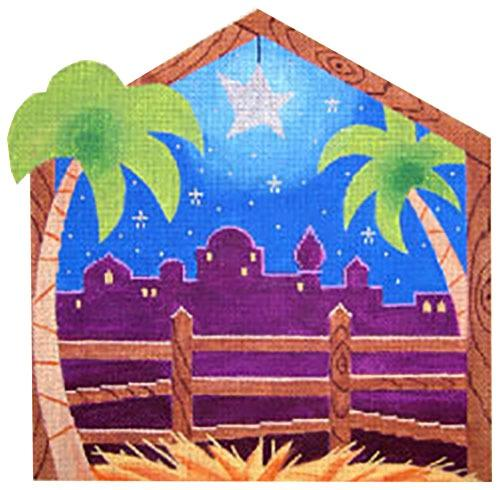 Manger Painted Canvas Labors of Love Needlepoint
