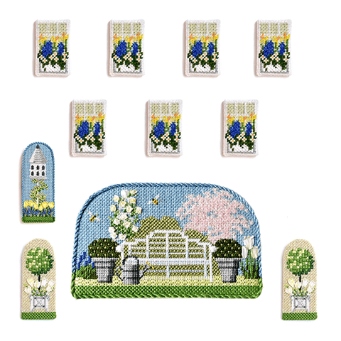 Manor House Spring Window & Accessory Pack Kits Needlepoint.Com