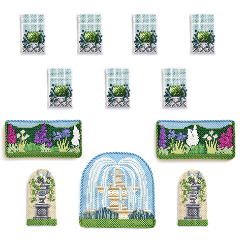 Manor House Summer Window & Accessory Pack Kits Needlepoint.Com