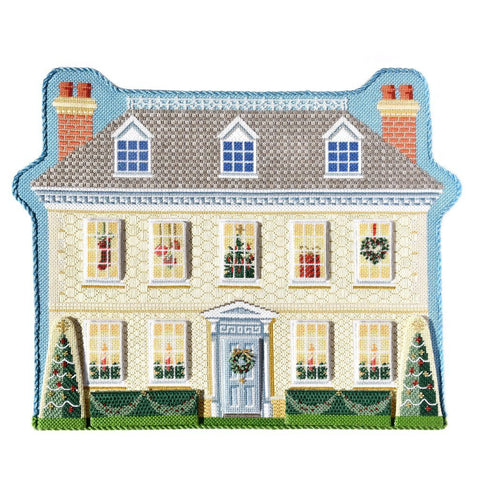 Manor House with Winter Windows Kits Needlepoint.Com