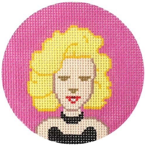 Marilyn Monroe Painted Canvas Lee's Needle Art Inc.