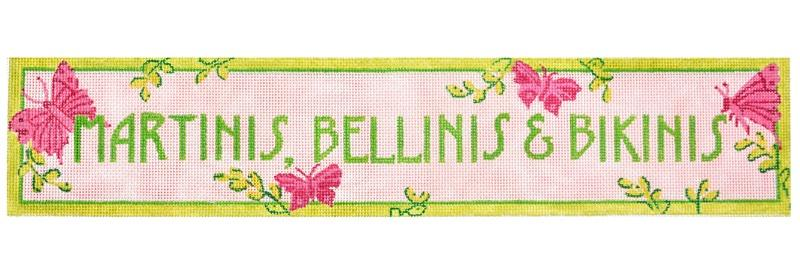 Martinis, Bellinis, and Bikinis Painted Canvas Kate Dickerson Needlepoint Collections