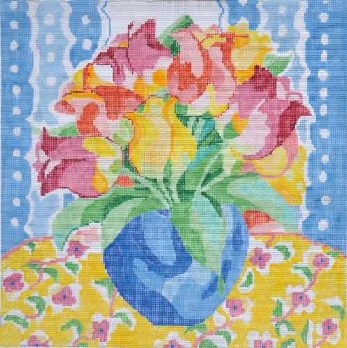 Matisse's Table #10 Painted Canvas Jean Smith