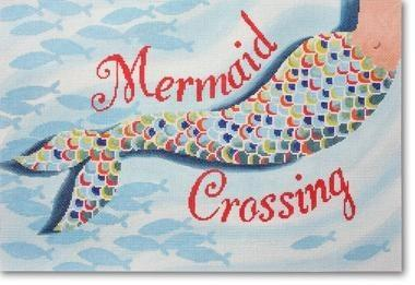 Mermaid Crossing Painted Canvas CBK Needlepoint Collections