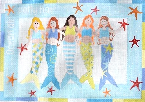 Mermaids Painted Canvas Pippin