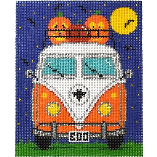 Micro Bus - Halloween Painted Canvas The Meredith Collection