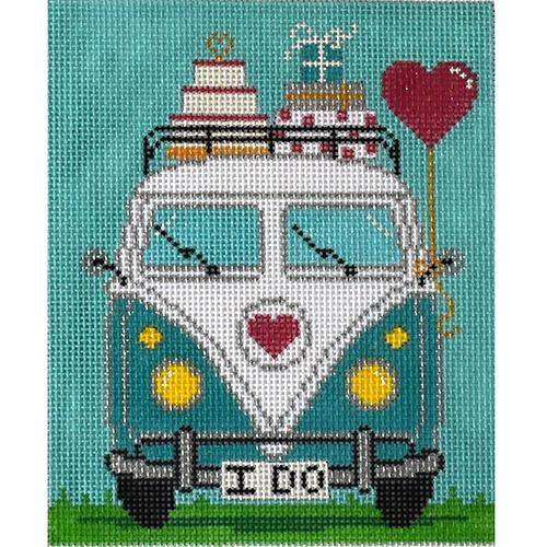 Micro Bus - Wedding Painted Canvas The Meredith Collection