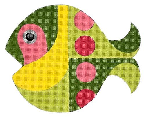 Mid Century Fish Painted Canvas Raymond Crawford Designs