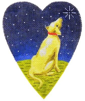Midnight Golden Labrador Heart Painted Canvas Kirk & Bradley
