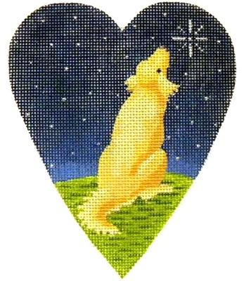 Midnight Golden Retriever Heart Painted Canvas Kirk & Bradley