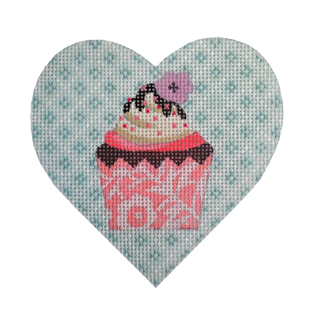 Mini Cupcake Mint Painted Canvas Kirk & Bradley